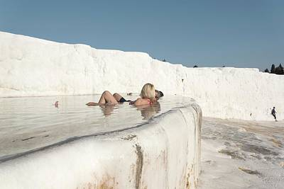 Calcium Photograph - Pamukkale Travertine Terrace by David Parker