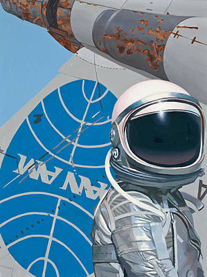 Rust Art Painting - Pan Am by Scott Listfield