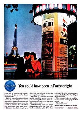 Pan Am To Paris Print by Benjamin Yeager