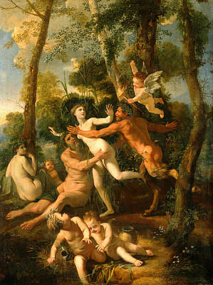 Nicolas Poussin Painting - Pan And Syrinx by Nicolas Poussin