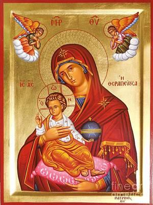 Greek Icon Painting - Panagia - Virgin Mary by Theodoros Patrinos