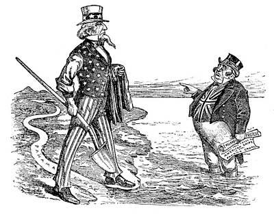 Panama Canal Cartoon, 1912 Print by Granger