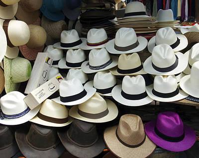 Hats Photograph - Panama Hats In Ecuador by Kurt Van Wagner