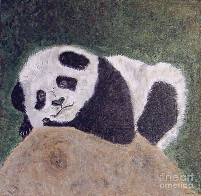 Panda Bear Sleepy Baby Cub Print by Ella Kaye Dickey