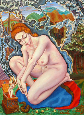 Lesbian Painting - Pandora's Box by Aswell Rowe