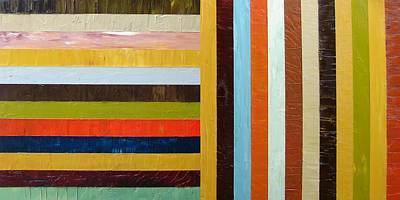 Bright Colours Painting - Panel Abstract L by Michelle Calkins