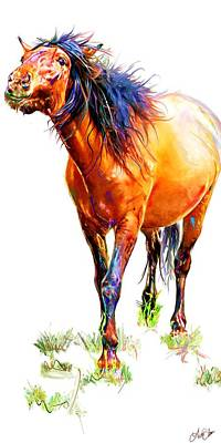 Horse Painting - Panel Series 3 by Terri Glaser