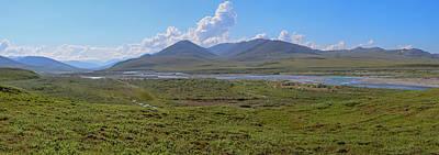 Panorama Along Kongakut River Arctic Print by Tom Norring