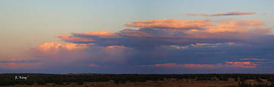 Panorama Colors In The Clouds Print by Roena King