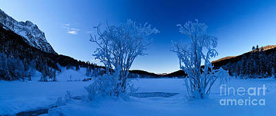 Iceflower Photograph - Panorama Of A Frozen Lake by Fabian Roessler