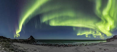Arctic Photograph - Panorama Of Auroras by Frank Olsen
