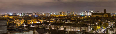 Streetlight Photograph - Panorama Of Dublin Docklands by Semmick Photo