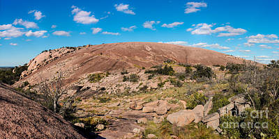 Panorama Of Enchanted Rock State Natural Area - Fredericksburg Texas Hill Country Print by Silvio Ligutti