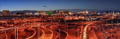 Brat Photograph - Panorama Of Las Vegas From Mccarran International by Silvio Ligutti