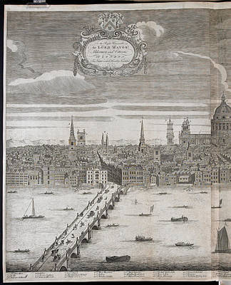 Etc Photograph - Panorama Of London by British Library