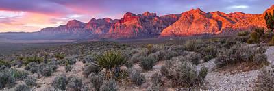 Panorama Of Rainbow Wilderness Red Rock Canyon - Las Vegas Nevada Print by Silvio Ligutti