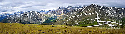Panorama Of Rocky Mountains In Jasper National Park Print by Elena Elisseeva