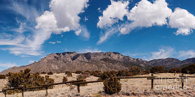 Panorama Of Sandia Mountains From Elena Gallegos Picnic Area - Albuquerque New Mexico Print by Silvio Ligutti