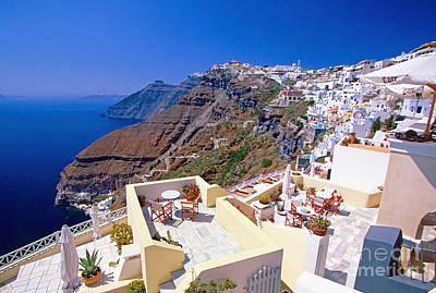 Vacances Photograph - Panorama Of Santorini by Aiolos Greek Collections