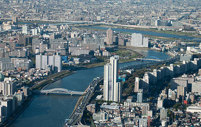 Tokyo Skyline Photograph - Panorama Of Tokyo by Jill Mitchell