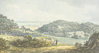 Jane Austen Drawing - Panoramic After View, From The Red Book by Humphry Repton