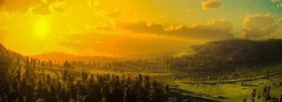 Strength Digital Art - Panoramic Hillside by Lonnie Christopher