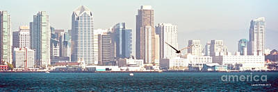 Panoramic Of San Diego Photograph - Panoramic Image Of San Diego From The Harbor by Artist and Photographer Laura Wrede