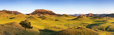 Panoramic Of The Bears Paw Mountains Print by Chuck Haney