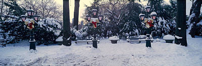 Panoramic View Of Christmas Wreath Print by Panoramic Images