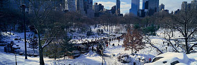 Panoramic View Of Ice Skating Wollman Print by Panoramic Images