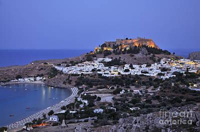 Panoramic View Of Lindos Print by George Atsametakis