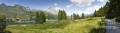 Panoramic View Of Sils Lake - Switzerland - Europe Print by Scatena Artwork