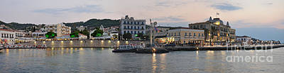 Panoramic View Of Spetses Town Print by George Atsametakis