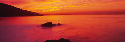 Malibu Photograph - Panoramic View Of The Sea At Dusk, Leo by Panoramic Images