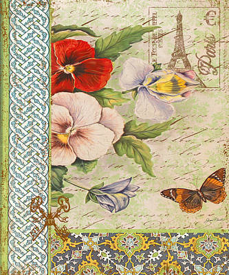Pansy Garden-a Print by Jean Plout