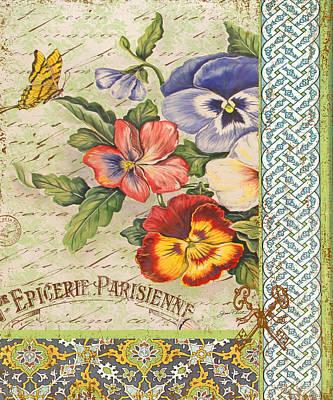 Pansy Garden-b Print by Jean Plout