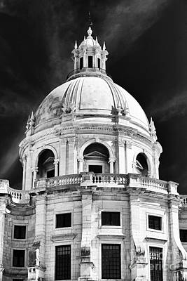 Historic Site Photograph - Panteao Nacional Bw by John Rizzuto