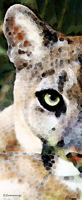 Collectible Painting - Panther Art - Florida's Feline by Sharon Cummings