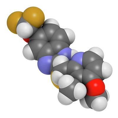 Pantoprazole Gastric Ulcer Drug Molecule Print by Molekuul