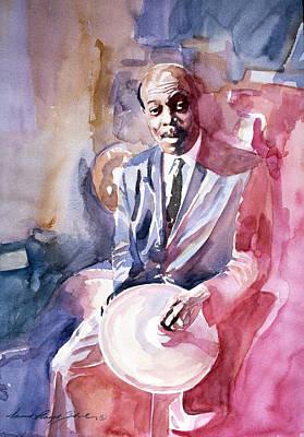 Papa Jo Jones Jazz Drummer Print by David Lloyd Glover