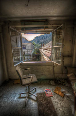 Haunted Digital Art - Paper Mill Reflection  by Nathan Wright