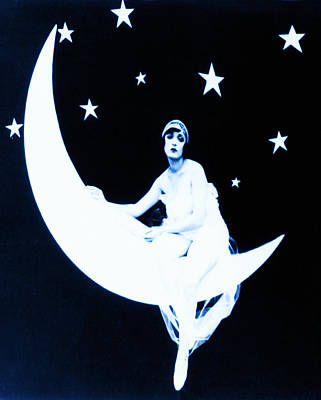 Paper Moon Print by Digital Reproductions