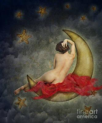 Paper Moon Print by Jelena Jovanovic