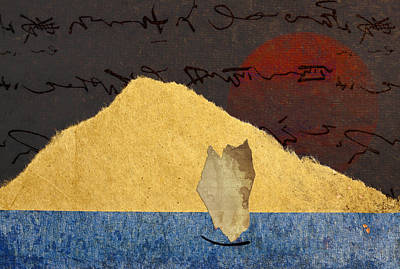Abstract Montage Mixed Media - Paper Sail by Carol Leigh