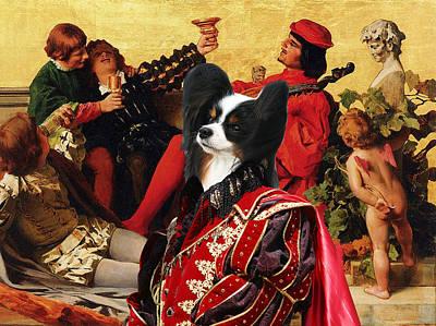Papillon Dog Painting - Papillon Dog - Continental Toy Spaniel Art Canvas Print by Sandra Sij
