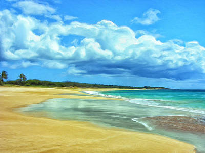 Mauna Kea Painting - Papohaku Beach Molokai by Dominic Piperata