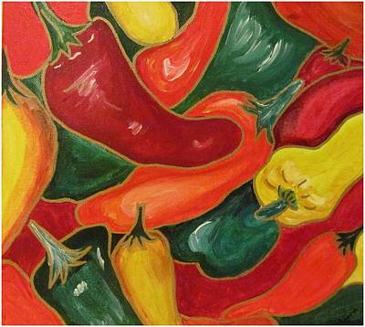 Bellpeppers Painting - Paprika by Nishima Agarwal