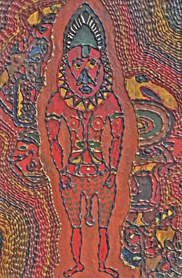 Canoe Mixed Media - Papua New Guinea Man by Carol Mallillin-Tsiatsios
