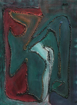 Abstract Painting - Papyrus 3 by Oscar Penalber
