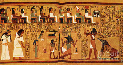 Papyrus Of Ani, Weighing Of The Heart Print by Science Source